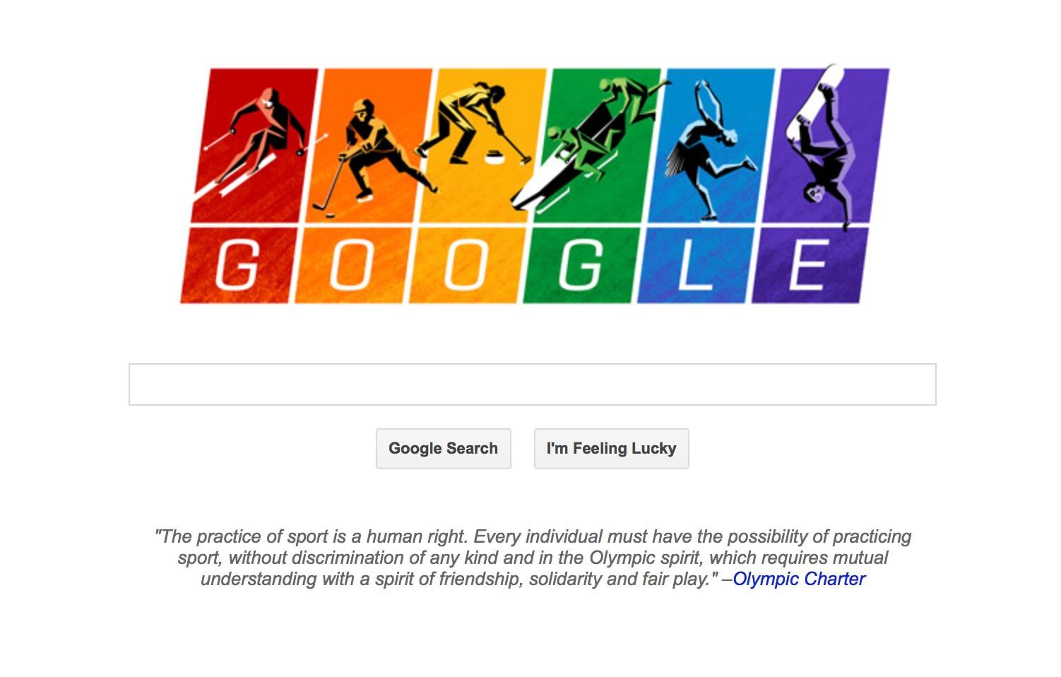 Google thay hinh nen ky niem Thang Tu hao Dong tinh