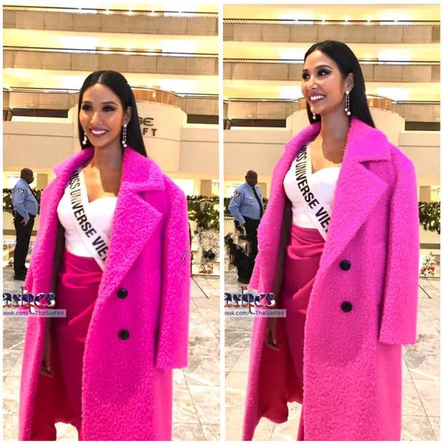 Hoàng Thùy đeo sash Việt Nam, rạng rỡ đọ sắc cùng dàn đối thủ cực mạnh trong ngày đầu nhập cuộc Miss Universe - Ảnh 1.
