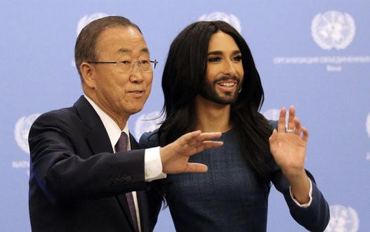 'Người đẹp có râu' biểu diễn tại Liên Hiệp Quốc
