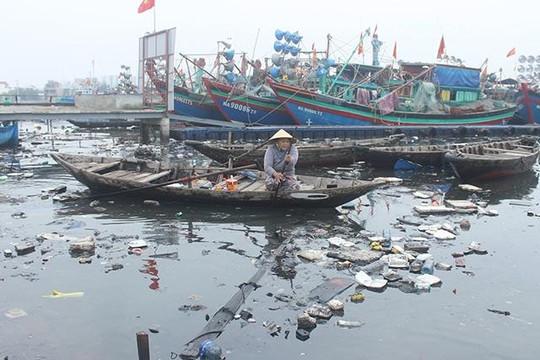 Cảng cá ngập ngụa rác, bốc mùi thum thủm giữa lòng Đà Nẵng