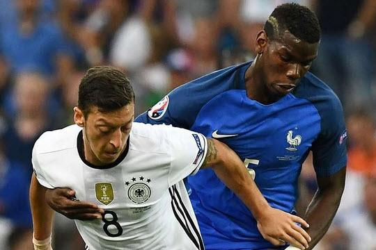 Pogba nể phục Ozil dù Pháp thắng Đức 2-0