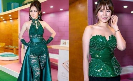 Chi Pu diện váy xuyên thấu lộ nội y, Hari Won khen nức nở