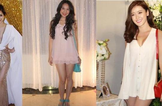Những chiếc váy hớ hênh, làm lu mờ cô dâu của sao nữ Việt