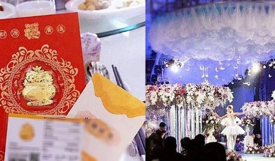 Đám cưới trăm tỉ, thiệp mời đính vàng và quà cưới làm tất cả khách ngỡ ngàng