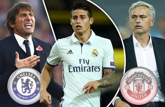 Săn đón James Rodriguez, Chelsea thách thức Man United