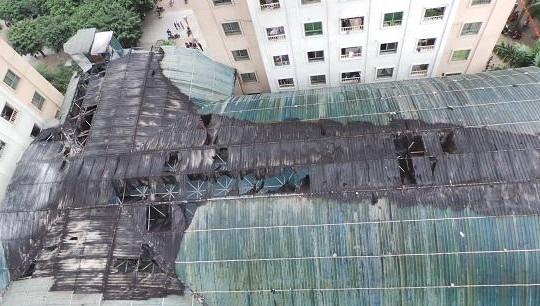 Lại xảy ra cháy ở chung cư của 'đại gia điếu cày'