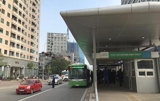 Hà Nội: Đi vào đường dành riêng cho buýt nhanh bị phạt tới 1,2 triệu đồng