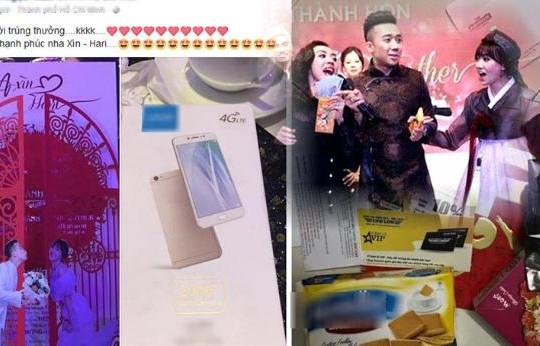 Khách ăn cưới Trấn Thành - Hari Won nhận smartphone Trung Quốc 6 triệu