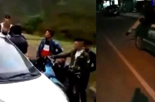 Taxi Mai Linh hất người lên nắp capo rồi bỏ chạy, nhóm trai làng Lào Cai chặn đường côn đồ
