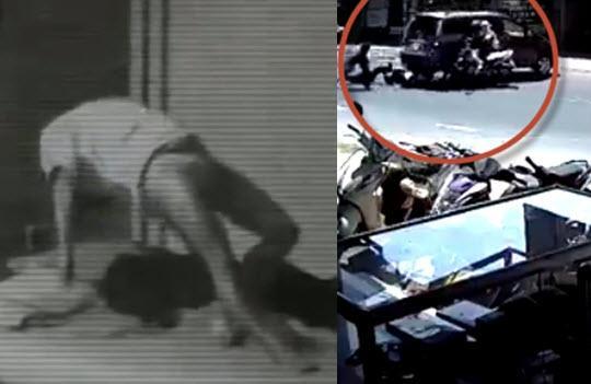 Clip cô gái mặc nội y tự bay bổng khi đang ngủ, ô tô lùi ẩu húc văng hai đôi nam nữ