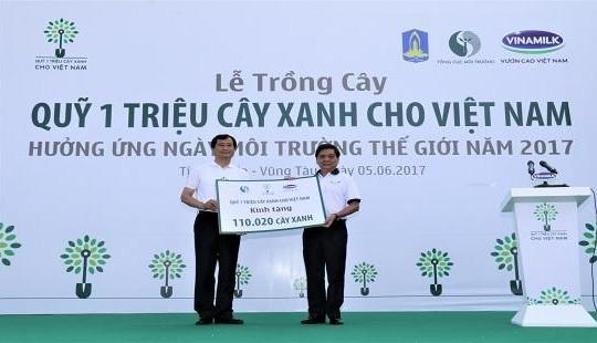 Vinamilk phát động trồng hơn 110.000 cây xanh tại Bà Rịa - Vũng Tàu