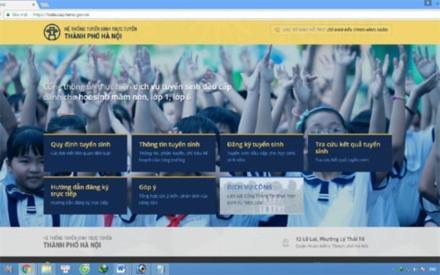 Hà Nội bắt đầu tuyển sinh trực tuyến đầu cấp 2017