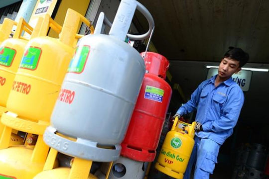 Giá gas tăng 27.000 đồng/bình từ ngày 1.8