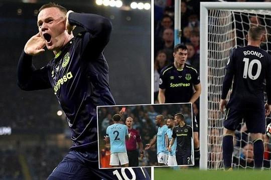 Rooney ghi bàn vào lưới Man City giúp Quỷ đỏ vững ngôi đầu