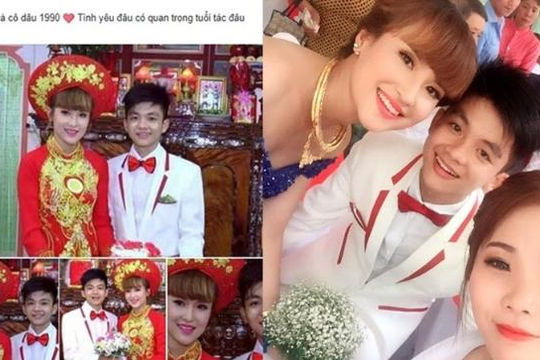 Tá hỏa vì lễ cưới của chú rể giống học sinh 2k và vợ 9x ở Tiền Giang