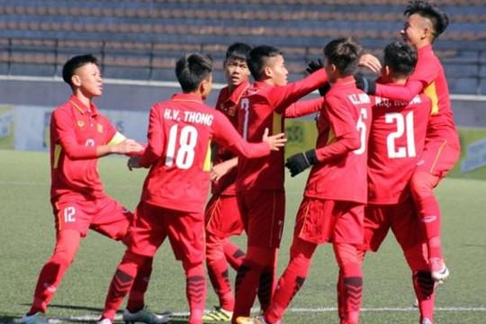 U.16 Việt Nam thắng lớn trong trận ra quân  tại Vòng loại châu Á 2018