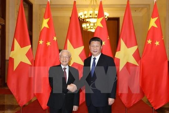 Tổng bí thư Nguyễn Phú Trọng gửi điện mừng ông Tập Cận Bình