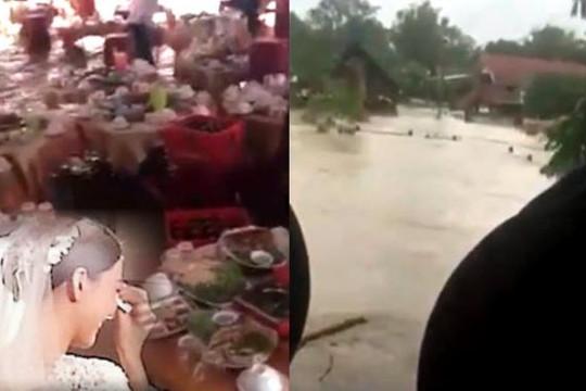 Đám cưới giữa bão số 12 vắng gần 600 khách, cô dâu bật khóc