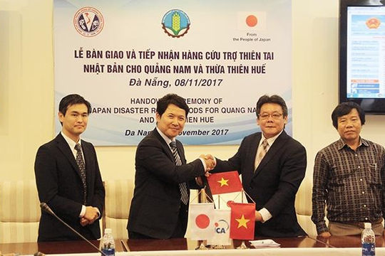 Nhật Bản viện trợ Việt Nam khắc phục bão số 12