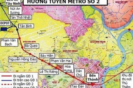 TP.HCM: Tuyến metro số 2 đội vốn thêm 800 triệu USD