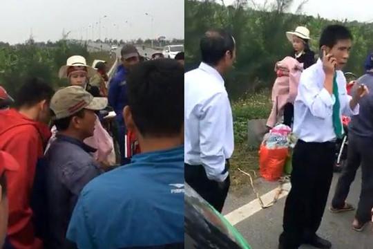 Hot girl Bella quỵt tiền tài xế taxi già, người dân vây quanh gây tắc đường quốc lộ 5