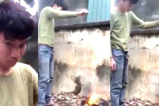 Thanh niên Hà Nội tra tấn, thiêu sống mèo trên bếp lửa khiến cả nước phẫn nộ
