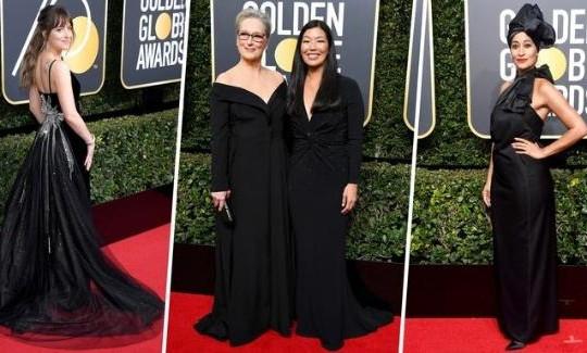 Lý do hàng loạt ngôi sao diện trang phục đen tại lễ trao giải Quả Cầu Vàng 2018