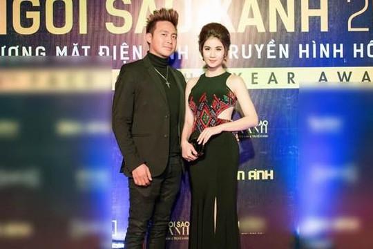 Diễn viên Kha Ly được chồng hộ tống đi sự kiện