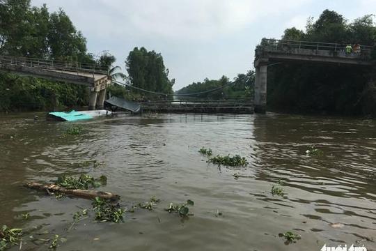 Lại sập thêm một cây cầu ở tỉnh Tiền Giang trong vòng 1 ngày