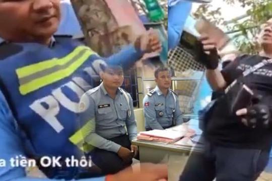 Biker Sài Gòn hối hận vì quay clip hối lộ 20 USD làm 2 CSGT Campuchia mất việc