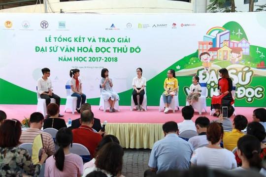 Hà Nội trao giải cho 28 'Đại sứ Văn hóa đọc thủ đô'