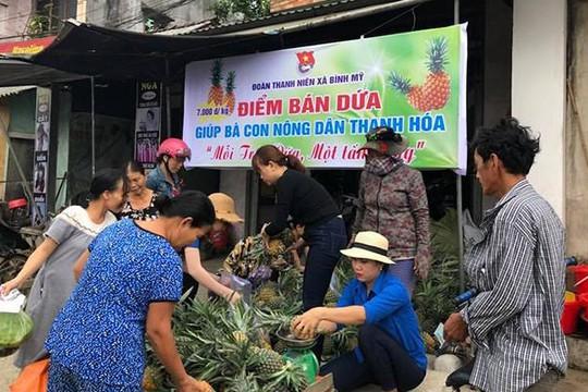 Nữ bí thư huyện ở Quảng Ngãi kết nối 'giải cứu' dứa mật Thanh Hóa