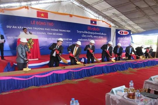 BIDV tài trợ xây dựng trường PTTH Dakcheung tại tỉnh Sekong