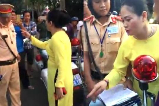 Chồng lái ô tô quá tốc độ bị thổi phạt, vợ chửi CSGT Bà Rịa - Vũng Tàu là 'chó'