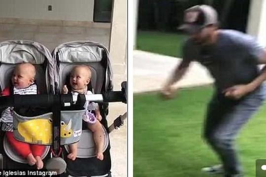 Enrique Iglesias chia sẻ clip làm trò cho cặp song sinh gây thích thú