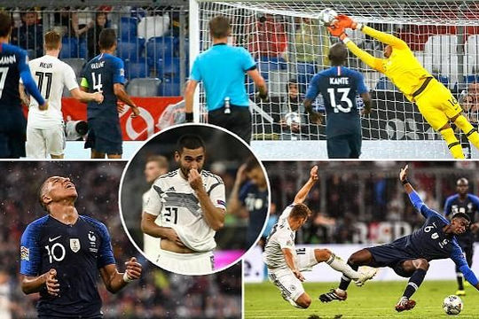 Nhà vô địch Pháp tịt ngòi trước cựu vương Đức tại UEFA Nations League