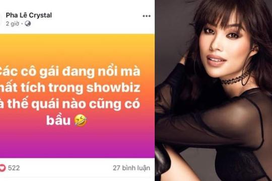 Pha Lê nói không ám chỉ Phạm Hương có bầu, Thanh Thảo và Nam Thư lên tiếng