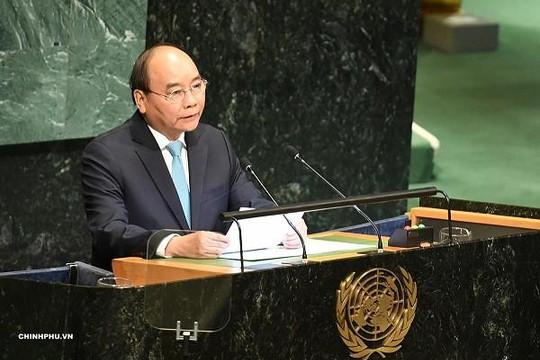 Thủ tướng Nguyễn Xuân Phúc phát biểu tại phiên thảo luận cấp cao Đại hội đồng LHQ