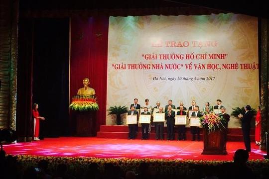 Quy định mới về xét Giải thưởng văn học nghệ thuật cấp nhà nước