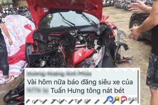 Lời nói đùa siêu xe của Tuấn Hưng bị tai nạn thành sự thật