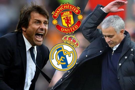 Không đạt được thoả thuận với Real, Conte muốn thay Mourinho dẫn dắt M.U