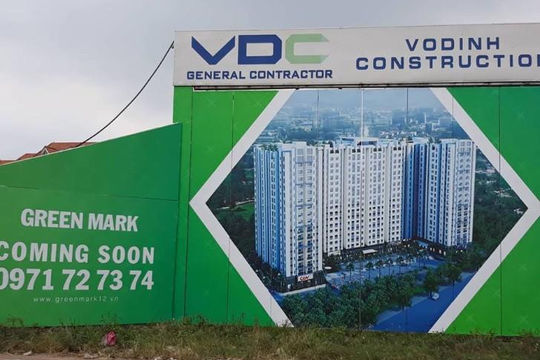 Dự án Green Mark chưa xong phần móng chủ đầu tư đã huy động vốn