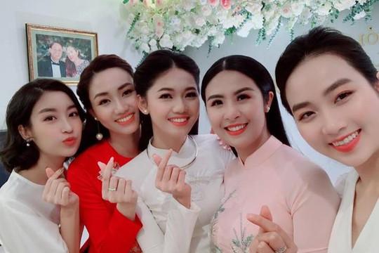 Hoa hậu Ngọc Hân, Mỹ Linh mừng lễ ăn hỏi của á hậu Thanh Tú