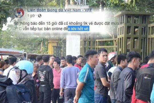 Bị nghi tuồn vé Việt Nam – Philippines ra ngoài, VFF lên tiếng thanh minh