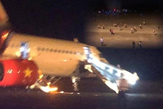 207 khách hoảng loạn, sợ máy bay Vietjet nổ khi hạ cánh không an toàn