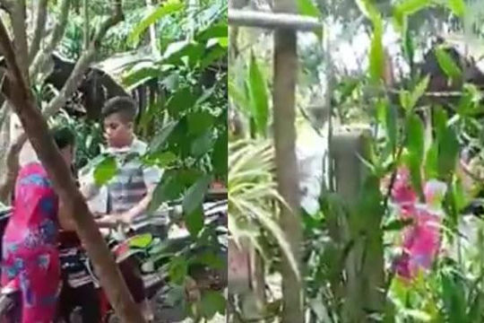 Clip con rể lao xe và đạp văng mẹ vợ khi bị phát hiện đi chơi với bồ