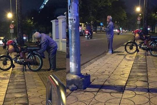 Cụ ông Sài Gòn chạy xe ôm từ 8 giờ tối đến 6 giờ sáng kiếm tiền sống qua ngày