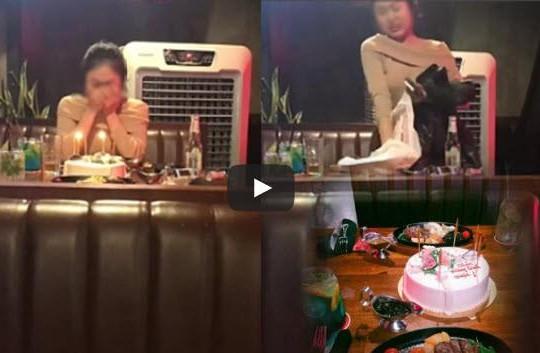 Chờ 2 tiếng người ấy không đến, nữ MC trẻ đẹp bật khóc ném bánh sinh nhật