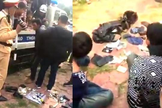 Bị 20 người rượt đánh, 2 tên cướp xe máy chạy vào chốt CSGT Phú Thọ cầu cứu
