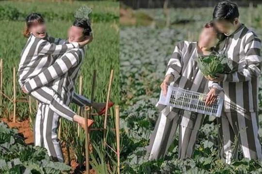 Cặp đôi mặc quần áo tù nhân chụp ảnh cưới bị ngàn người mỉa mai